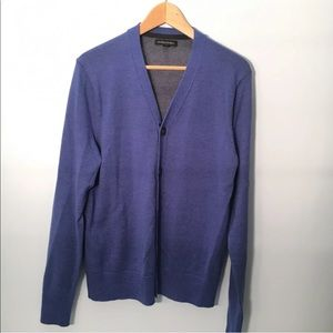 Banana Republic Mens Cardigan Button Up Blue Small
